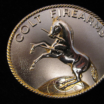 colt prancing pony belt buckle