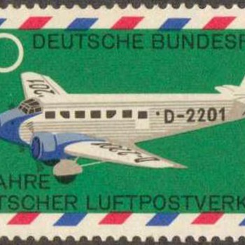 "1969 - W. Germany ""Air Mail Service"" Postage Stamps"