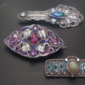 Arts & Crafts Enamel Brooches - Arts and Crafts