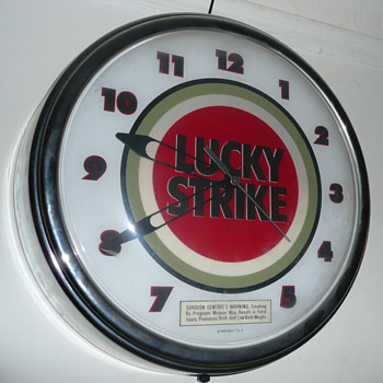 Lucky Strike Light Up Clock  - Clocks