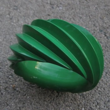 Green plastic bracelet from West Germany - Costume Jewelry
