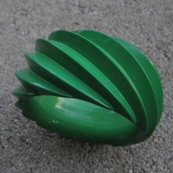 Green plastic bracelet from West Germany