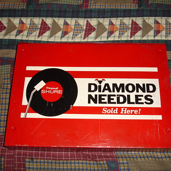 Diamond Needles (Original Shure) Metal Drawer I found  - Music