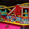 Old Tin Toy Wind up Circus Roller Coaster and Car