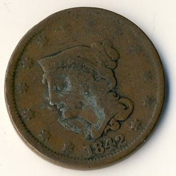Large U.S. Cent (1842) - US Coins
