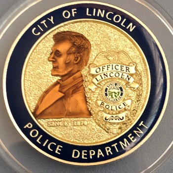 Lincoln Nebraska Abraham Lincoln Police Dept. Challenge Coin - US Coins