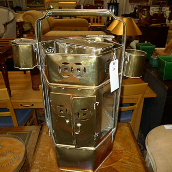 Brass 'thing' - a carrying container for something or other