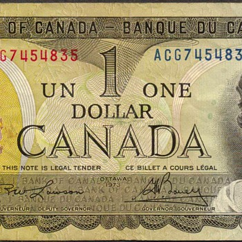 Canada - (1) Dollar Bank Note
