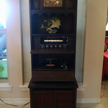 Upright General Electric Clock, Radio, Record Player