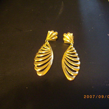 18KT Designer Angel Wing Earrings - Fine Jewelry