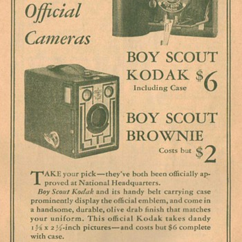 1932 Kodak Boy Scout Cameras Advertisement