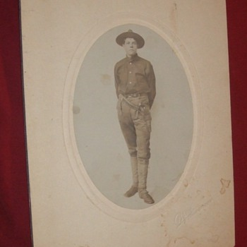 Soldier with pistol and belt from Telluride CO - Military and Wartime
