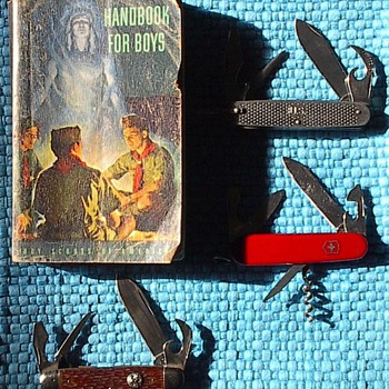 Boy Scout Book and Knife and Survival Knives