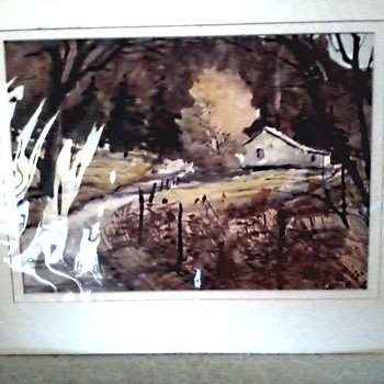 2 Bette G. Elliott Watercolors /Unframed, Matted, Sealed /Circa 1960's-70's ?