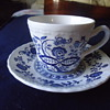 BLUE HERITAGE CUP AND PLATE