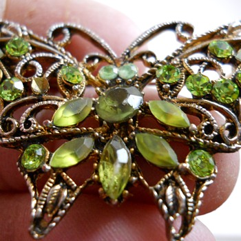 Vintage Butterfly Brooch, 20 Century - Costume Jewelry