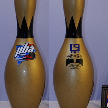 Brunswick Gold PBA Tour Test Bowling Pin - Sporting Goods