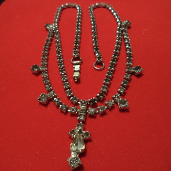 Rhinestone Costume Necklace