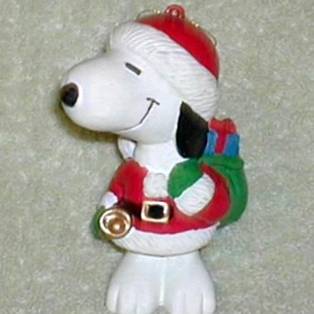Vintage Snoopy Santa Ornament