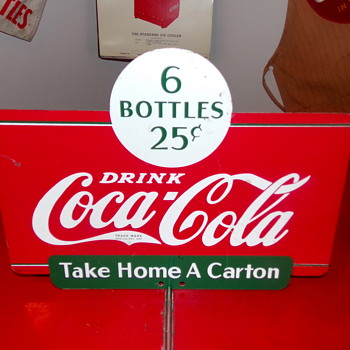 1937 Coca-Cola Display Rack Sign