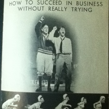 """How To Succeed In Business Without Really Trying"" Vintage Playbill"