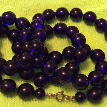 Blue glass beads - Costume Jewelry