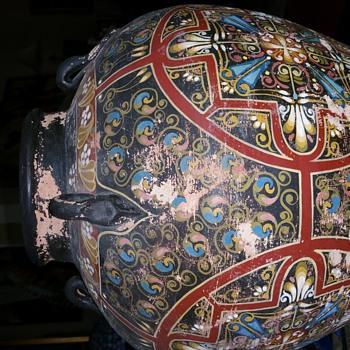 UNKNOWN DECORATIVE JAR - Art Pottery