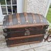 Romadka Brothers Leather Trunk rare front clasp