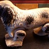 "Vintage Walking Dog Pull Toy "" See Em Walk"" was made by Noma Electric Company  1940s"