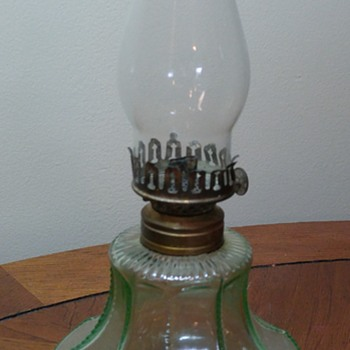 Uranium Glass Oil Lamp - Lamps
