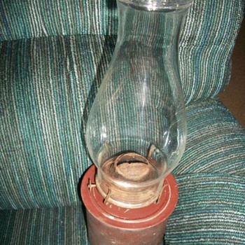 Possibly an old Switchman&#039;s table lamp (CN for Canadian National RR?)