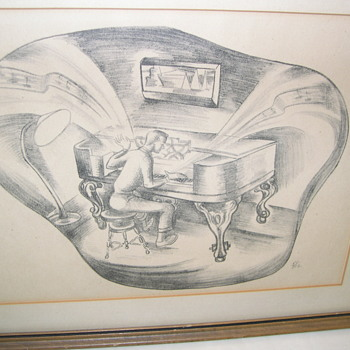 Could this lithograph be part of WPA ? - Visual Art