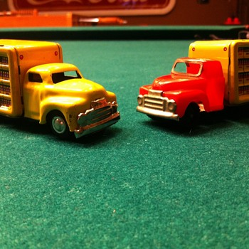 1950's Cragstan  Coca Cola friction toy trucks!