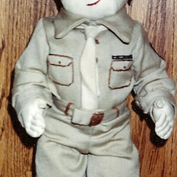 WW2 cloth Army Doll