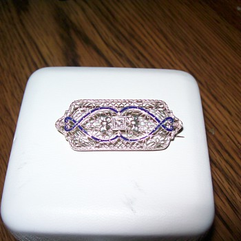 Early 1900's Filigree Brooch - Art Deco