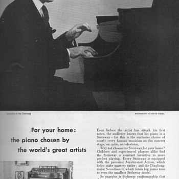 1952 - Steinway &quot;Early American&quot; Advertisement