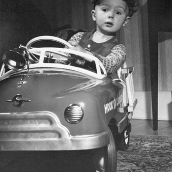 Young Boy in Pedal Car circa 1950