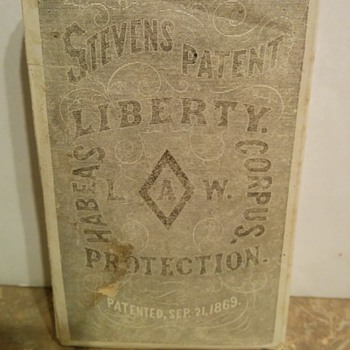 1869 Habeas Corpus Law - Stevens Patent