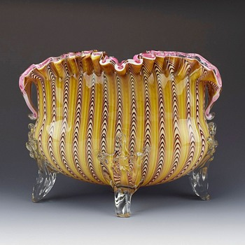 STEVENS AND WILLIAMS  PULLED LOOP VASE CIRCA 1887