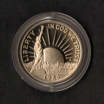 1986 - Statue of Liberty Proof Half Dollar Coin
