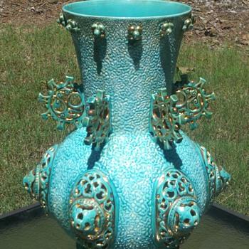 Turquoise Chinese Vase! - Art Pottery