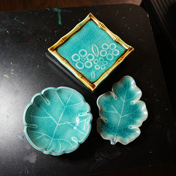 Blue Leaf Trays - Asian