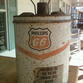 5 Gallon Phillips 66 Oil can.
