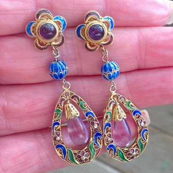 Vintage Chinese earrings - Asian