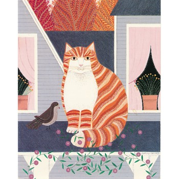 Thanksgiving Day cat - Cards