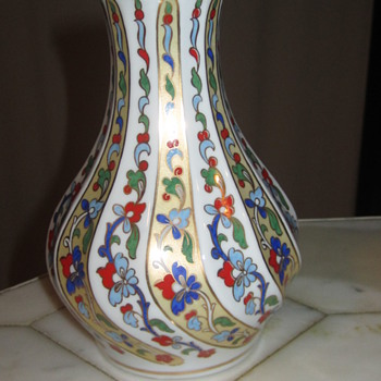 "Kutahya Porselen Turkish Vase 6""  - Art Pottery"