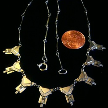 Art deco German necklace - Costume Jewelry
