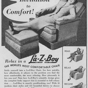 1950 La-Z-Boy Chair Advertisement - Advertising