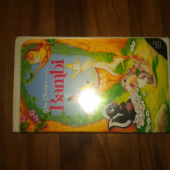 Black Diamond Disney Bambi VHS