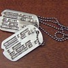 WW2 notched dog tags with NOK c. 1942